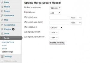 Update Harga ‹ WordPress Toko Online